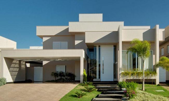 Resultado de imagem para fachadas de casas terreas com platibanda