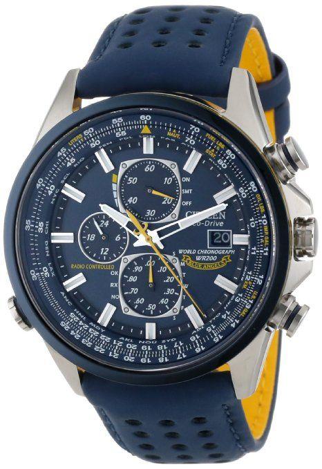 Citizen Men's AT8020-03L Eco-Drive Blue Angels World Chronograph A-T Watch
