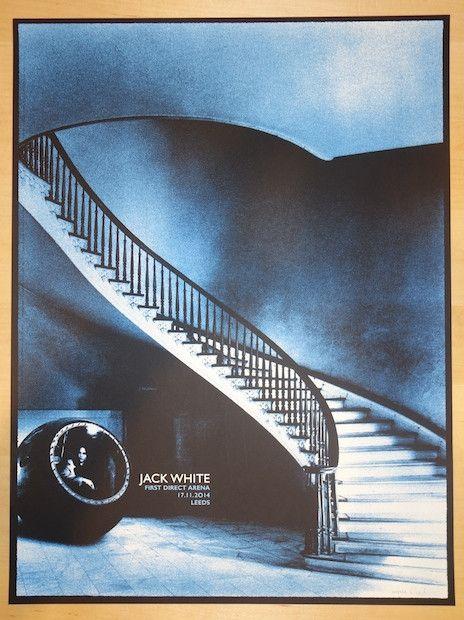 2014 Jack White - Leeds Silkscreen Concert Poster by Rob Jones