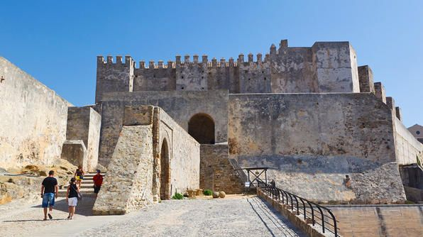 The southernmost port in Spain (and Europe), Tarifa is a short boat ride across the Strait of Gibraltar to Morocco. For a particularly good view of the harbor and the coast of Morocco, climb the Castle of Guzman El Bueno's towers.