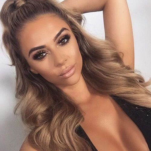 Tan Ash Blonde Hair Que Bellas Nails Makeup In 2018 Pinterest And Styles