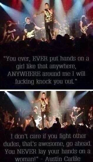 Austin Carlile <3 he said this in is concert. he stopped sing to say this...his mother has to be proud