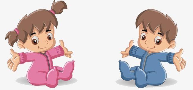 كارتون اطفال طفل مرسومة باليد طفل صغير Png وملف Psd للتحميل مجانا Baby Clip Art Baby Cartoon Cute Toddlers