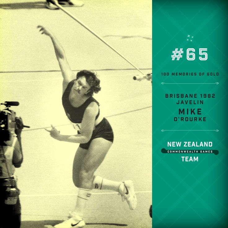 Golden Memory #65. Mike O'Rourke javelin champion at the 1982 Commonwealth Games held in Brisbane. #makingusproud