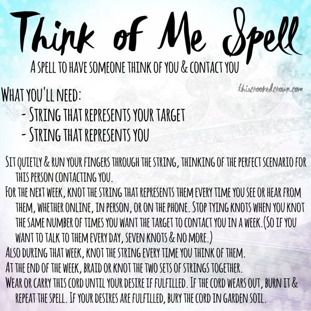Think of Me Spell by This Crooked Crown