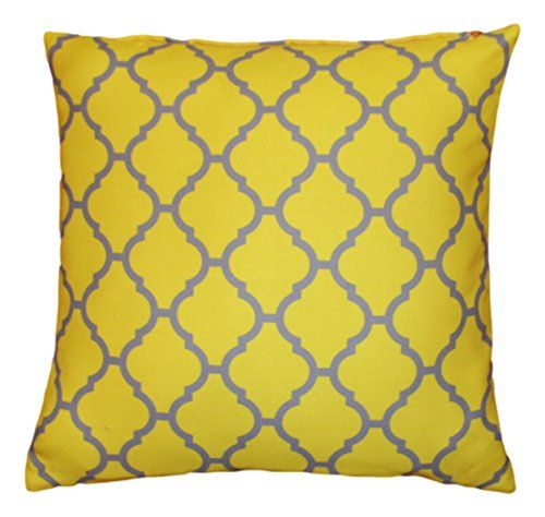 43 x geometric pattern design moroccan bright yellow grey quatrefoil cushion pillow outdoor cover for sofa bed gift home decor cushion