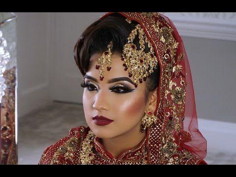 Dramatic Blue Smokey Eyes   Asian Bridal Makeup   Photoshoot - YouTube