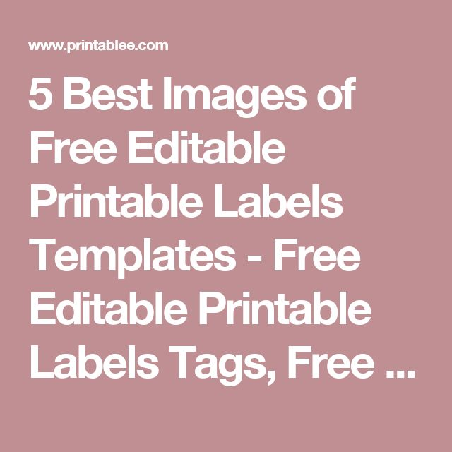 Best 25+ Free printable labels templates ideas on Pinterest - label templates free