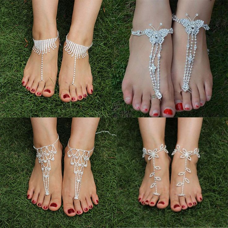 silver foot bracelet jewelry women sexy rhinestone barefoot sandals,beach foot jewelry brida wedding accessories