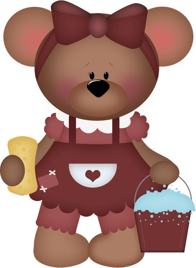 Teddy bear, nursery, baby girl, baby pink bear, clipart ...