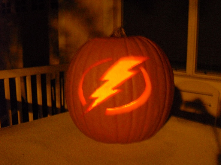 Tampa Bay Lightning pumpkin