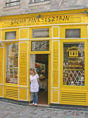 chez Finkelstaj - Best cheesecake in town in yellow shop for gloomy afternoon!  27 Rue des Rosiers, 75004 Paris, France - Tube station : Saint-Paul