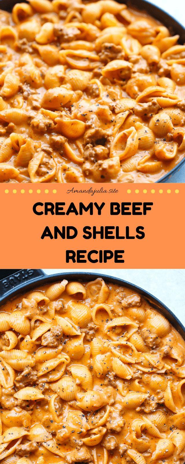 Creamy Beef and Shells Recipe