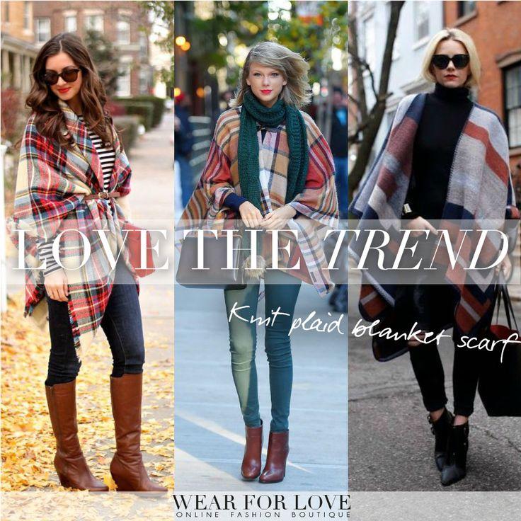 LOVE & SHOP> http://www.wearforlove.com/nl/kimono-s-omslagdoeken/1601-knit-ruiten-omslagdoek.html Zodra het winter wordt en het kwik zakt, kunnen we ons natuurlijk in de dikke truien en jassen heisen, maar voor nu kiezen we voor een fijne omslagdoek. Dit najaar is de omslagdoek niet meer weg te denken uit het modebeeld. Grote shawls zijn niet alleen lekker warm, ze maken je outfit ook nog eens compleet. We LOVE it! #fashion #trend #brands #inspiration #knit #scarf #fall #winter #2015