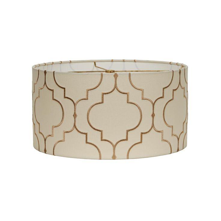 "16"" Arabesque Pattern Drum LampShade"