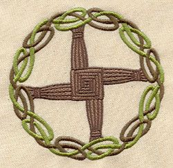 Brigid's Cross ...possible tattoo?? Would use dark purple (plumb) and a nice earthy green for knotwork.