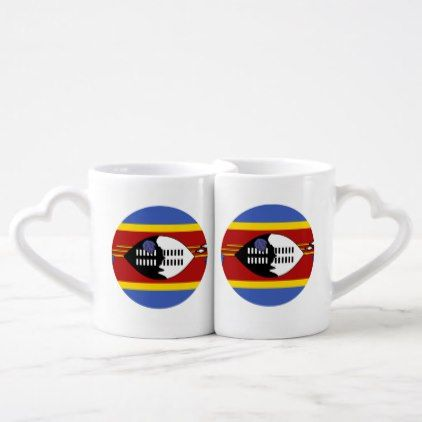 #Swaziland Flag Coffee Mug Set - #country gifts style diy gift ideas
