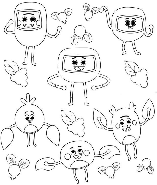 The Bumble Nums Make Honking Gooseberry Pie Coloring Page