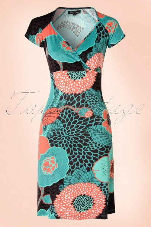 King Louie ~ 60s Gina Maui Dress in Earth Brown