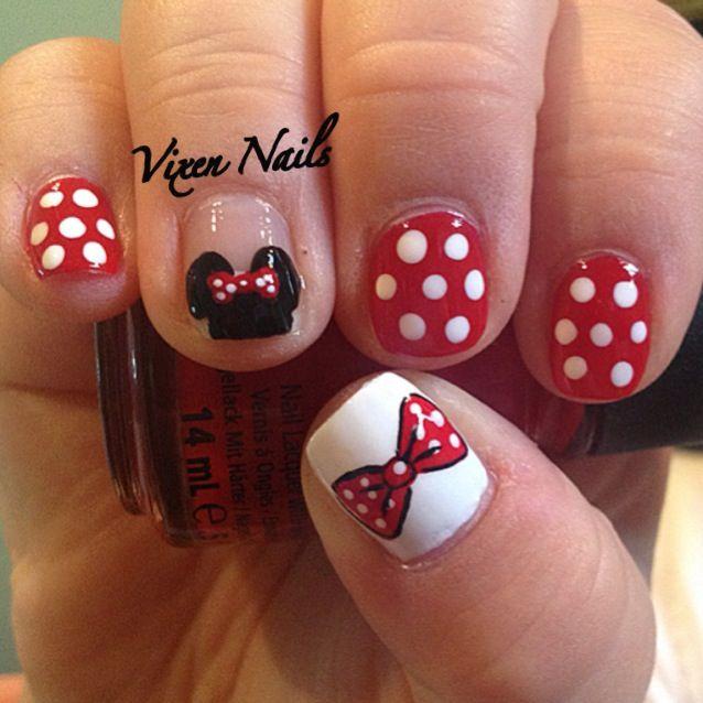 creative minnie mouse nail art 12 looks inspiration article - 25 Stunning Minnie Mouse Nail Art – Slybury.com