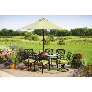Better Homes and Gardens Hillcrest 7-Piece Patio Dining Set, Seats 6