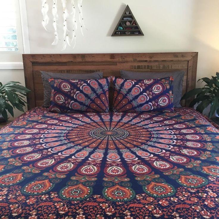 bedspread indian king size mandala duvet cover bohemian boho decor blanket cover