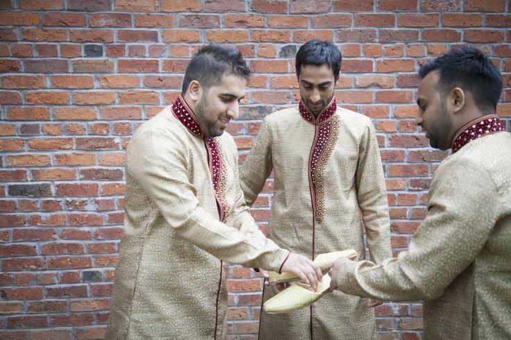 Muslim Asian wedding Groomsmen