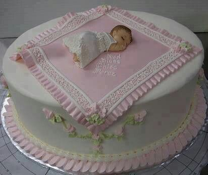 Cute idea for Baby Shower cake