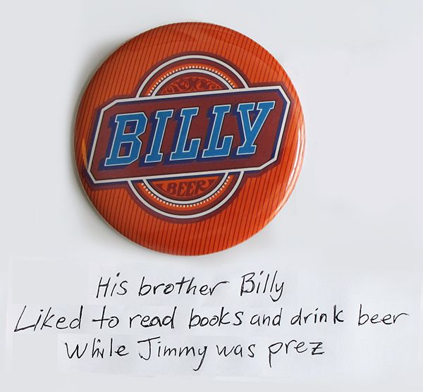 Button #Haikus for Haiku Poetry Day - Billy Beer #billybeer #jimmycarter