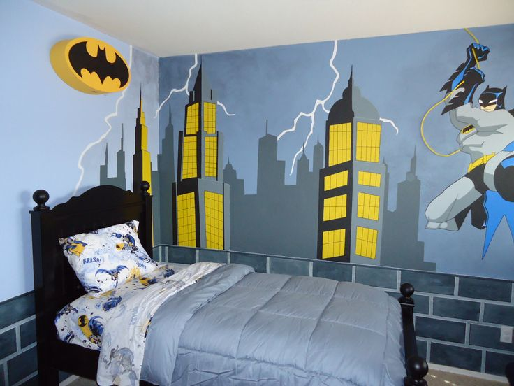 17 best images about lego superhero mural on pinterest for Batman bedroom wall mural