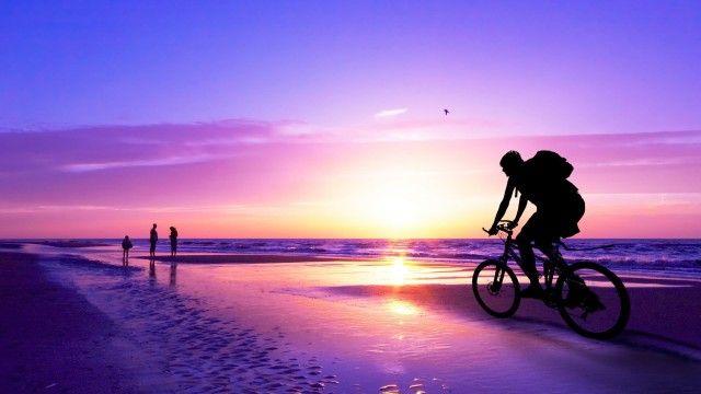 Tropical Beach Sunset Wallpaper 1080p