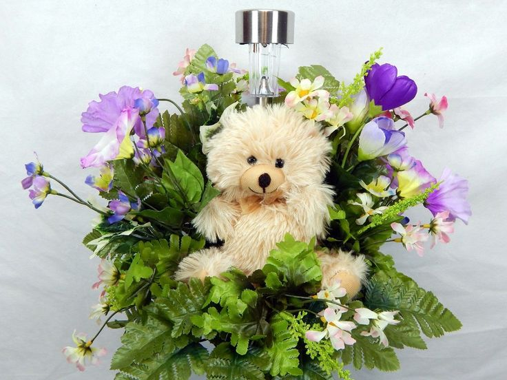 Teddy Bear With Solar Lite Child S Memorial Cemetery