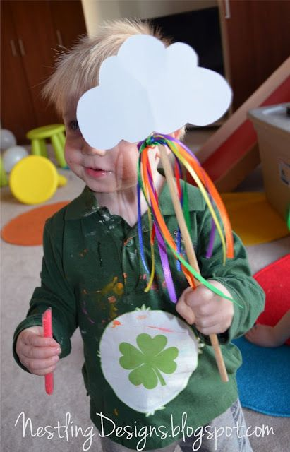 Nestling: Care Bear party part 2: Goody bags & activities - rainbow cloud wand