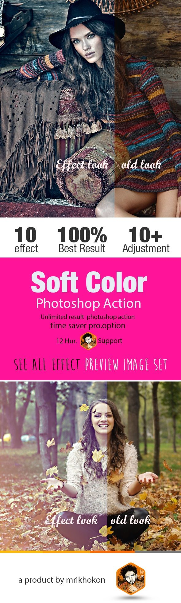 Soft Color Photoshop Action