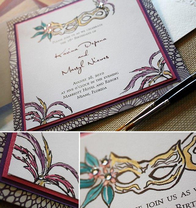 Masquerade Wedding Invitations: 25+ Best Ideas About Masquerade Wedding Invitations On
