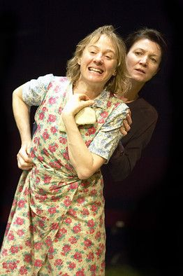 Michelle Fairley( behind) and Niamh Cusack in Brian Friel's Dancing at Lughnasa at the Old Vic