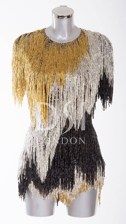 Black, Gold and Silver Latin Dress As worn by Iveta Lukasiute on Strictly Come Dancing 2014 Designed by Vicky Gill and produced by DSI London Loved this one!