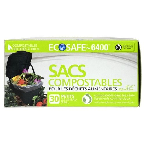 ecosafe6400 mini kitchen compost bags 30 bags per box