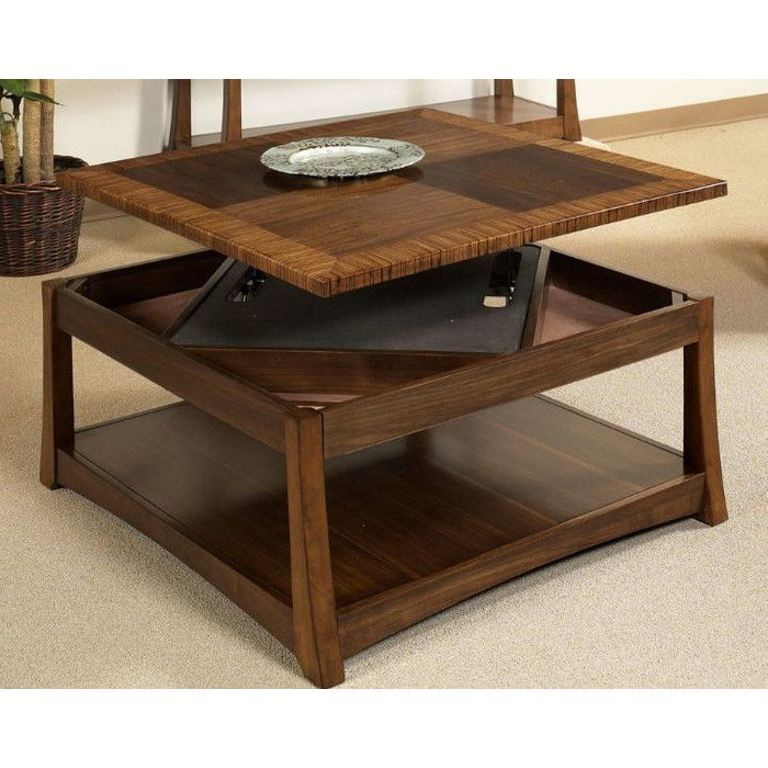 Somerton Dwelling Milan Dual Coffee Table With Dual Lift Top U0026 Reviews |  Wayfair
