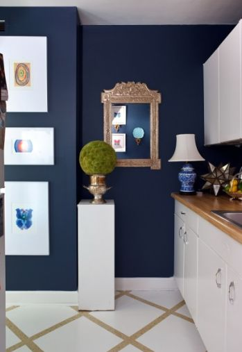 I have been dying to paint a room navy. Maybe my entry? I just love how crisp that white looks!