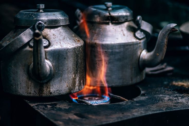 Download this free photo here www.picmelon.com #freestockphoto #freephoto #freebie /// Tea Cans on the Flame | picmelon