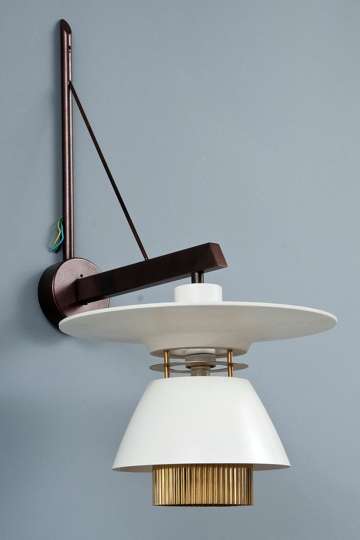 lisa brass and enameled metal wall light 1950s