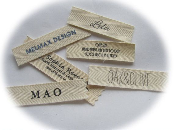 Custom Clothing labels Sew in labels for by mountainstreetarts