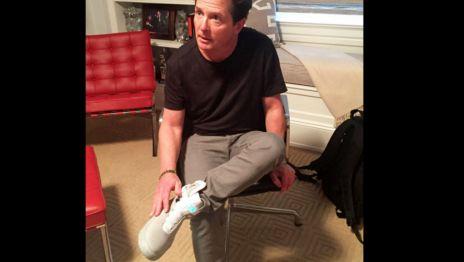 ¡#MichaelJFox ya se probó los nuevos tenis #Nike de #BackToTheFuture