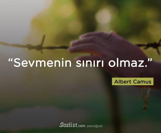 """""""Sevmenin sınırı olmaz."""" #albert #camus #sözleri #filozof #felsefe #felsefi #kitap #anlamlı #sözler"""