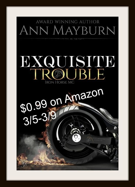 EXQUISITE TROUBLE BY ANN MAYBURN ONLY 99 CENTS THRU 3/9 With Harps Romance Book Review     http://www.harpsromancebookreview.com/exquisite-trouble-by-ann-mayburn-only-99-cents-thru-39/