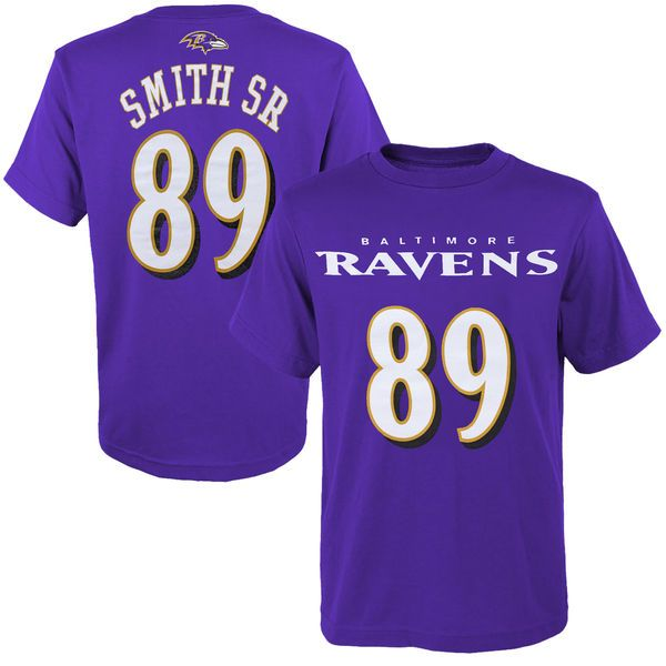 Steve Smith Sr Baltimore Ravens Youth Primary Gear Name & Number T-Shirt - Purple - $14.99