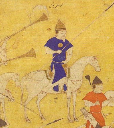 Timur on campaign against Golden Horde