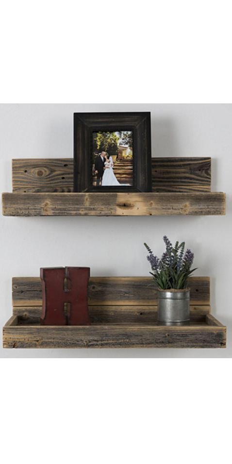 reclaimed wood floating shelves by on etsy