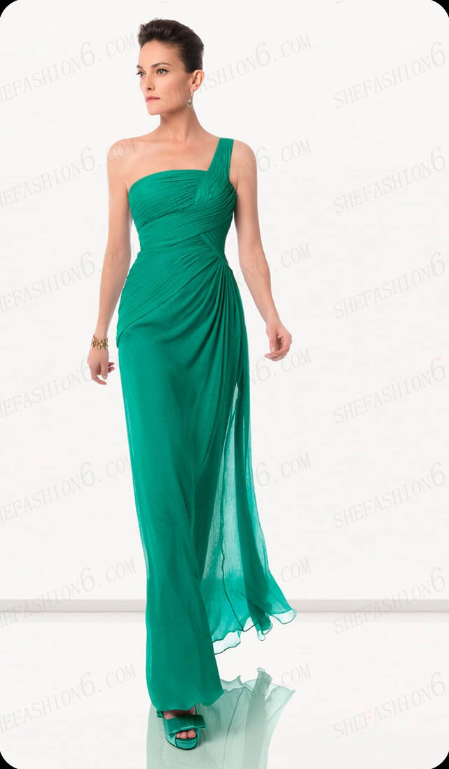 http://www.shefashion6.com  Item 2012S0005   One Shoulder Floor Length A Line Chiffon Cocktail Dress.jpg; Real top fabric, competitive price!!!